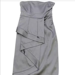 New Ted Baker gray strapless dress sz 4 or 10 US